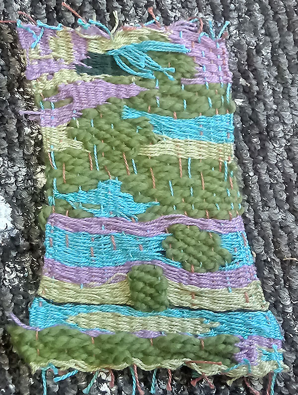 9.5-by-5-inch weaving project